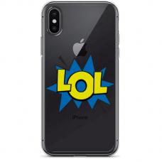 "Iphone XR silicone phone case with unique design 1.0 mm ""u-case airskin LOL design"""