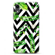 "Iphone XR Unique Silicone Case 1.0 mm ""u-case Airskin Leaves 2 design"""