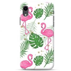 """Iphone XR Unique Silicone Case 1.0 mm """"u-case Airskin Flamingos design"""""""