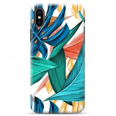 "Iphone XR Unique Silicone Case 1.0 mm ""u-case Airskin Leaves 1 design"""