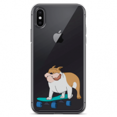"Iphone Xs MAX silicone phone case with unique design 1.0 mm ""u-case Airskin Doggo 2 design"""