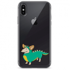"Iphone Xs MAX silicone phone case with unique design 1.0 mm ""u-case Airskin Doggo 4 design"""