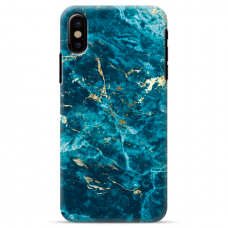 "Iphone Xs MAX silicone phone case with unique design 1.0 mm ""u-case Airskin Marble 2 design"""