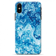 "Iphone Xs MAX silicone phone case with unique design 1.0 mm ""u-case Airskin Marble 3 design"""