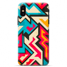 "Iphone Xs MAX silicone phone case with unique design 1.0 mm ""u-case Airskin Pattern 7 design"""