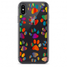 "Iphone Xs MAX silicone phone case with unique design 1.0 mm ""u-case Airskin PAW design"""