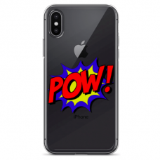 "Iphone Xs MAX silicone phone case with unique design 1.0 mm ""u-case Airskin POW design"""