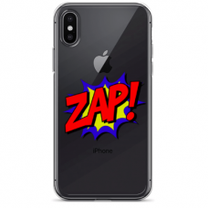 "Iphone Xs MAX silicone phone case with unique design 1.0 mm ""u-case Airskin ZAP design"""
