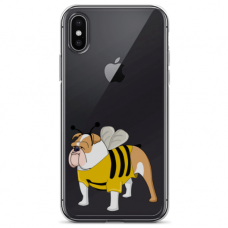 "Iphone Xs MAX silicone phone case with unique design 1.0 mm ""u-case airskin Doggo 1 design"""