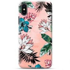 "Iphone Xs MAX Unique Silicone Case 1.0 mm ""u-case Airskin Flowers 1 design"""