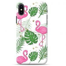"""Iphone Xs MAX Unique Silicone Case 1.0 mm """"u-case Airskin Flamingos design"""""""