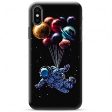 "Iphone Xs MAX Unique Silicone Case 1.0 mm ""u-case Airskin Cosmo design"""