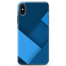 "Iphone Xs MAX Unique Silicone Case 1.0 mm ""u-case Airskin Blue design"""