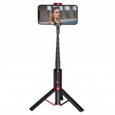 Joyroom Phantom Series selfie stick tripod wireless Bluetooth remote black (JR-Oth-AB202)