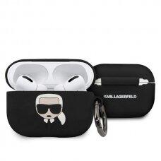 Original Karl Lagerfeld Case KLACAPSILGLBK AirPods Pro cover black Silicone Ikonik Original Karl Lagerfeld Case / KF000310 KF000310 (APAIR)