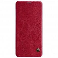 lg g7 thinq leather Flip case Nillkin qin red