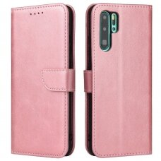 Magnet Case elegant bookcase type case with kickstand for Huawei P30 Pro pink