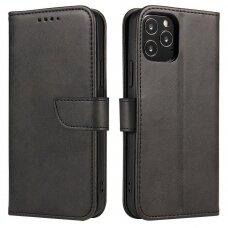 Magnet Case elegant bookcase type case with kickstand for Huawei P40 Lite 5G / Huawei Nova 7 SE black