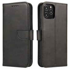 Magnet Case elegant bookcase type case with kickstand for OnePlus 8 black