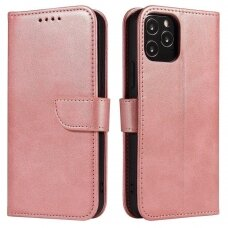 Magnet Case elegant bookcase type case with kickstand for Samsung Galaxy A41 pink