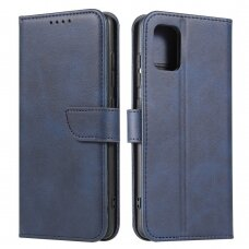 Magnet Case elegant bookcase type case with kickstand for Samsung Galaxy A51 5G blue