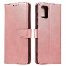 Magnet Case elegant bookcase type case with kickstand for Samsung Galaxy A71 pink