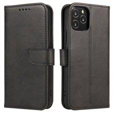 Magnet Case elegant bookcase type case with kickstand for Vivo X60 Pro black