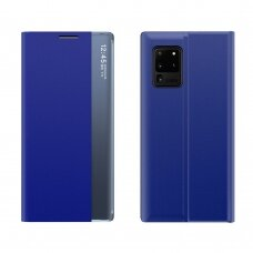 New Sleep Case Bookcase Type Case with kickstand function for Samsung Galaxy M51 blue