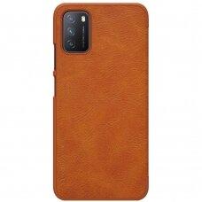 Nillkin Qin original leather case cover for Xiaomi Poco M3 brown