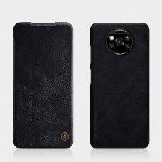 Nillkin Qin original leather case cover for Xiaomi Poco X3 NFC / Poco X3 Pro black