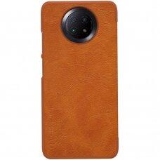 Nillkin Qin original leather case cover for Xiaomi Redmi Note 9T 5G brown