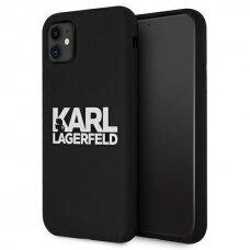 Original Karl Lagerfeld Case KLHCN61SLKLRBK iPhone 11 Silicone Stack Logo black