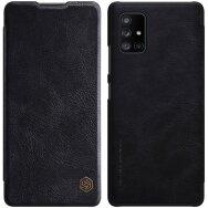 [B WARE] Nillkin Qin Leder Flip Klapp Handytasche Handyhülle für Samsung Galaxy A71 5G schwarz