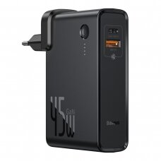 [RETURNED ITEM] Baseus GaN fast wall charger PPS 45 W USB / USB Typ C Quick Charge 3.0 Power Delivery (gallium nitride) + USB Type C 1 m cable black (PPNLD-C01)