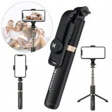 [RETURNED ITEM] Wozinsky Bluetooth remote selfie stick tripod black (WSSTK-01-BK)