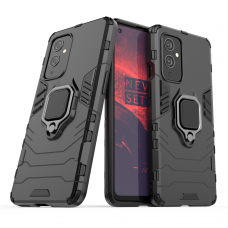 Ring Armor Case Kickstand Tough Rugged Cover for OnePlus 9 black