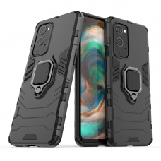 Ring Armor Case Kickstand Tough Rugged Cover for OnePlus 9 Pro black