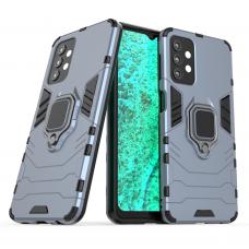 Ring Armor Case Kickstand Tough Rugged Cover for Samsung Galaxy A32 5G blue