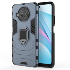 Ring Armor Case Kickstand Tough Rugged Cover for Xiaomi Mi 10T Lite blue