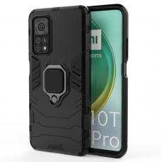 Ring Armor Case Kickstand Tough Rugged Cover for Xiaomi Mi 10T Pro / Mi 10T black