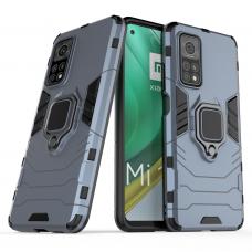 Ring Armor Case Kickstand Tough Rugged Cover for Xiaomi Mi 10T Pro / Mi 10T blue