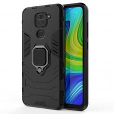Ring Armor Case Kickstand Tough Rugged Cover for Xiaomi Redmi 10X 4G / Xiaomi Redmi Note 9 black