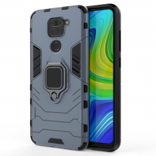 Ring Armor Case Kickstand Tough Rugged Cover for Xiaomi Redmi 10X 4G / Xiaomi Redmi Note 9 blue