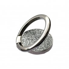 Ring Stand Glitter Holder for Smartphone silver