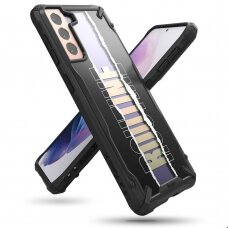 Ringke Fusion X Design durable PC Case with TPU Bumper for Samsung Galaxy S21 5G black (Routine) (XDSG0051)