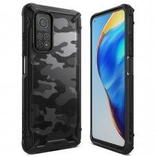 Ringke Fusion X Design durable PC Case with TPU Bumper for Xiaomi Mi 10T Lite / Mi 10i Camo Black (XDXI0020)