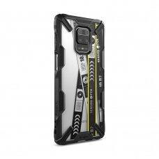 Ringke Fusion X Design durable PC Case with TPU Bumper for Xiaomi Redmi Note 9 Pro / Redmi Note 9S black (XDXI0010)