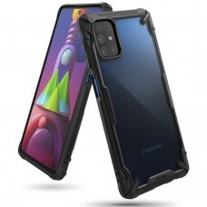 Ringke Fusion X durable PC Case with TPU Bumper for Samsung Galaxy M51 black (FUSG0065)