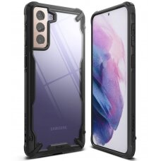 Ringke Fusion X durable PC Case with TPU Bumper for Samsung Galaxy S21+ 5G (S21 Plus 5G) black (FUSG0067)