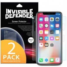 Ringke Invisible Defender 2x Full TPU Coverage Screen Protector for Apple iPhone 11 Pro / iPhone XS / iPhone X - case friendly (IFAP0003-RPKG)  (IP11PRO)